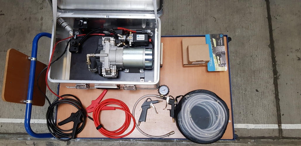 electric compressor-system in a zarges-case